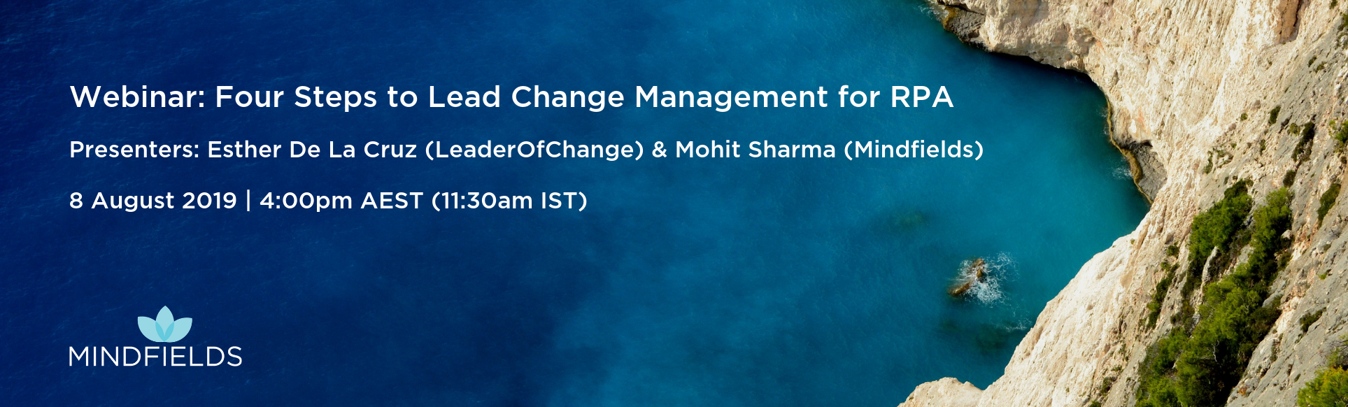 Webinars - Change Mgt 4pm AEST
